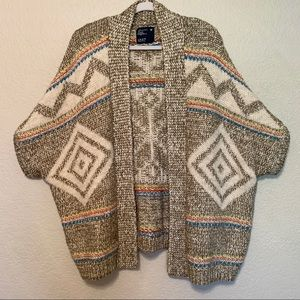 American Eagle winter sweater with bright accents